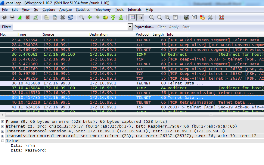 WIRESHARK filtre