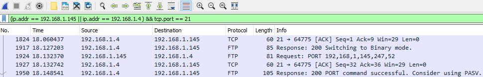 Wireshark filtre zlozezene podmienky