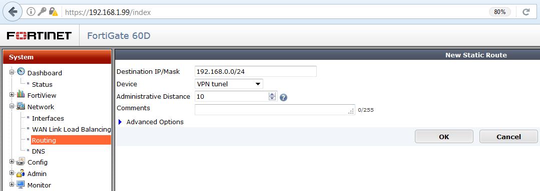 konfigurácia IPsec fortigate 8