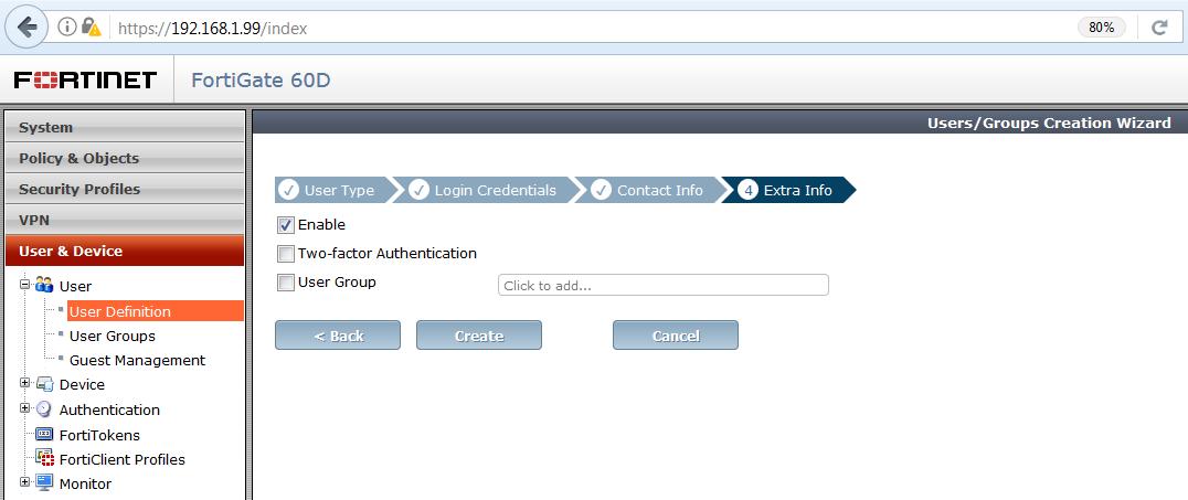 Vzdialený prístup do siete fortigate user 5