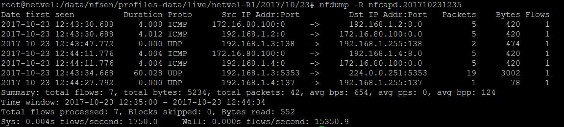 analýza prevádzky v sieti nfdump