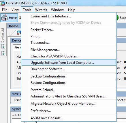 Cisco ASA ASDM 1