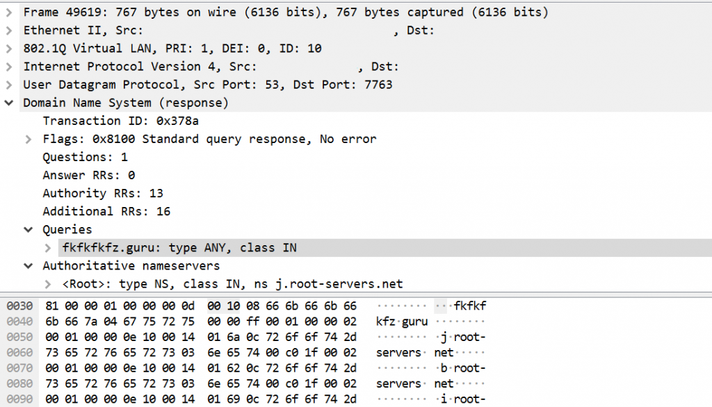 DDOS UDP wireshark